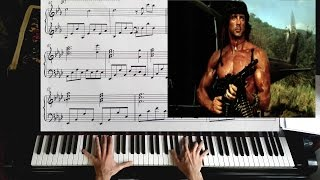 """Rambo: First Blood"" Theme - Piano Solo / It`s a Long Road - Piano Tutorial"