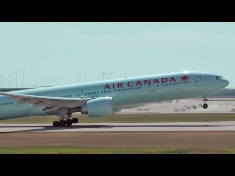 Air Canada 777-300ER Takeoff   Vancouver International Airport YVR