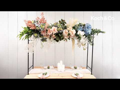 Metal Table Flower Arch 4 Clips Panel Extendable 125x98cmH