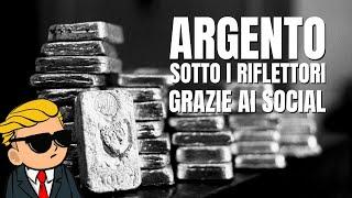 Argento: i social trader mettono il metallo sotto i riflettori