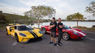 HEAD TO HEAD - FORD GT OLD VS NEW - ROAD REVIEW WITH DRAGTIMES