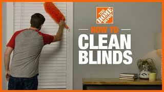 A video showing how to clean blinds.