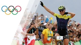 Jenny Rissveds wins women's Mountain Bike gold