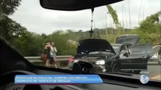 Perseguição policial: homens são presos suspeitos de tráfico