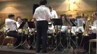 A Orquestra Ligeira da Banda Marcial de   Almeirim no  jantar promovido pelo Rotary Club de Almeirim