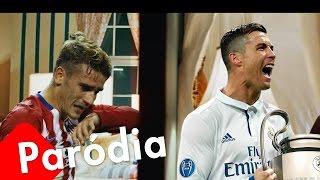"""Cristiano Ronaldo Levando a Champions - Paródia """"Acordando o prédio"""" (Luan Santana)"""