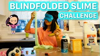 SLIME - BLINDFOLDED CHALLENGE   (It's messy, but hilarious)