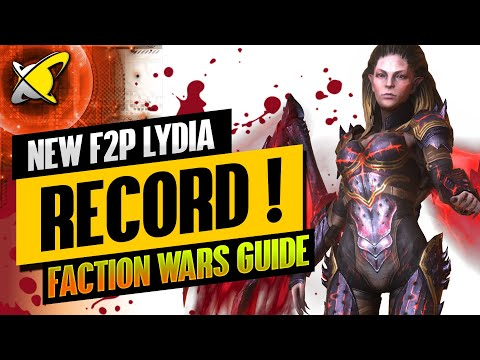 NEW F2P LYDIA RECORD !! | Faction Wars Guide | Tips & Tricks | RAID: Shadow Legends