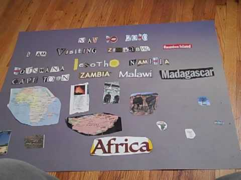 Southern Africa Trip Treasure Map by Andrew Bushard