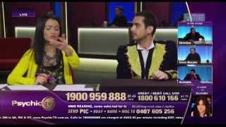 Psychic Deniz explaining his work on live TV