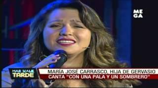 """María José Carrasco, hija de Gervasio, canta """"Con una pala y un sombrero"""""""