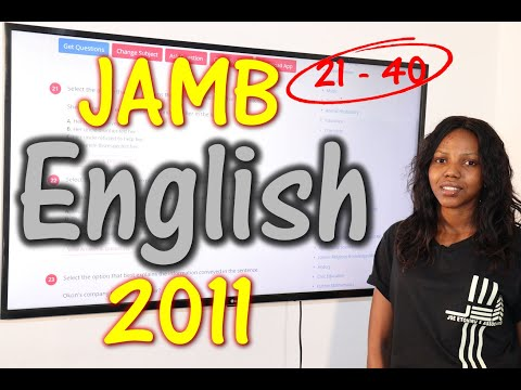 JAMB CBT English 2011 Past Questions 21 - 40