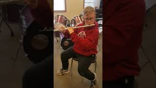 Kid plays ussr national anthem on a flute