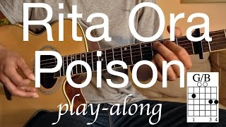 RITA ORA - Poison Guitar Lesson / Tutorial - Play-along on acoustic Guitar /cover/