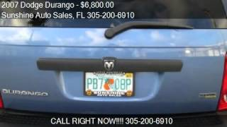 2007 Dodge Durango for sale in Miami , FL 33166 at the Sunsh