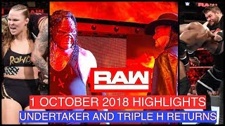 WWE RAW 1 OCTOBER 2018 HIGHLIGHTS - WWE RAW 10/1/18 HIGHLIGHTS - WWE RAW 1 OCT 2018