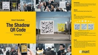 Emart Sunny Sale Campaign - 3D Shadow QR Code
