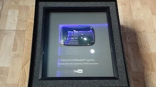 """YouTube 100,000 Subscribers Reward! """"Silver Play Button""""  Unboxing"""