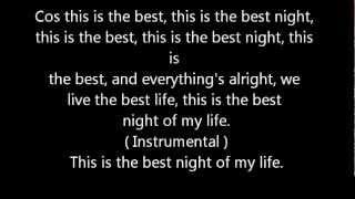 Best Night - Justice Crew Lyrics