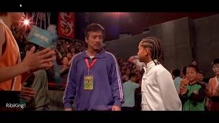 """The Karate Kid   """"Liang Severely Hurts Dre Parker's Leg""""   HD"""