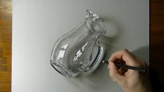 3D Art - Drawing of a Glass Pitcher