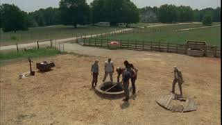 """How long you think it's been down there?"" The Walking Dead quote S02E04 Glenn"