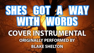 She's Got A Way WIth Words (Cover Instrumental) [In the Style of Blake Shelton]