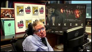 The Big Bang Theory at Comic-Con 2013 - Stephen Hawking sends video message