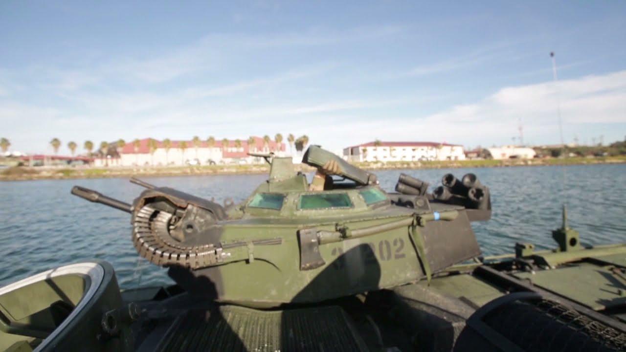 US Marines & JGSDF Assault Amphibious Vehicle Training