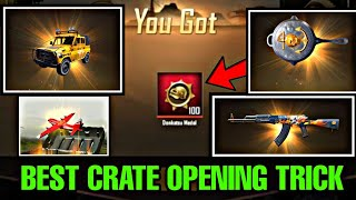 BEST CRATE OPENING TRICK | +25 CRATE OPENING IN PUBG KOREA | UNKNOWN DEVIL