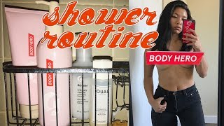 MY SHOWER ROUTINE // GLOSSIER #BODYHERO DUO