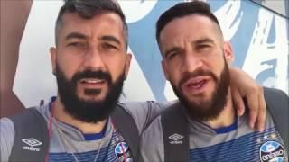 Douglas e Marcelo Oliveira mandam recado para torcida gremista
