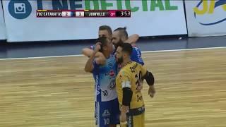 Gols Foz Cataratas 2 x 1 Joinville - Semifinal Jogo 1 Liga Nacional de Futsal 2017 (04/11/2017)