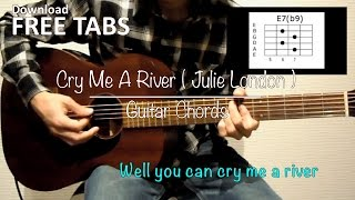 Cry Me A River (Julie London) - Guitar Chords / Takashi Terada