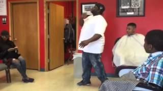 Little David Otunga's Dance Battle In The Barbershop
