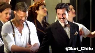 Ricky Martin y elenco de EVITA saludan (matinée 26.01.2013)