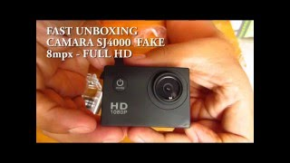 FAST UNBOXING SJ4000 FAKE 8MP HD 1080P Sports DV Car Helmet Waterproof DVR Video Camera Camcorder