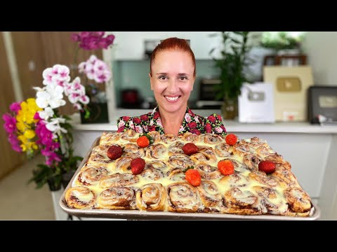 Тающие булочки МИНИ СИННАБОН вкусная выпечка с клубникой Люда Изи Кук strawberry cinnamon rolls