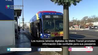 Los nuevos letreros digitales de Metro Transit prometen información más confiable para sus pasajeros
