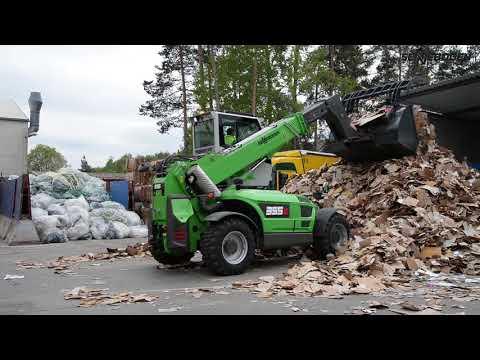 SENNEBOGEN 355 E - Papierrecycling bei Bergler Recycling, Deutschland