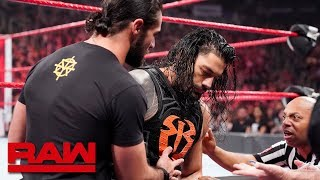 Seth Rollins helps Roman Reigns to the trainer's room: Raw, March 11, 2019