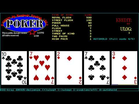 Poker (Predrag Knezevic) (MS-DOS) [1992] [PC Longplay]