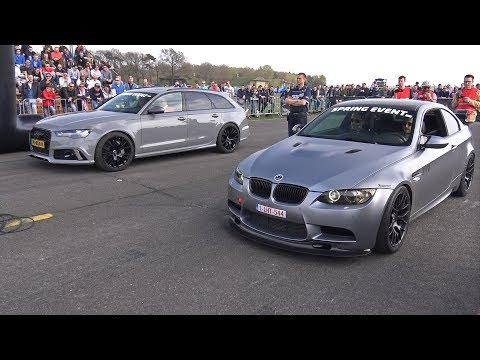 BMW M3 E92 G-POWER V8 COMPRESSOR vs Audi RS6 Avant C7