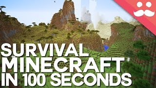 Survival Minecraft in 100 Seconds!
