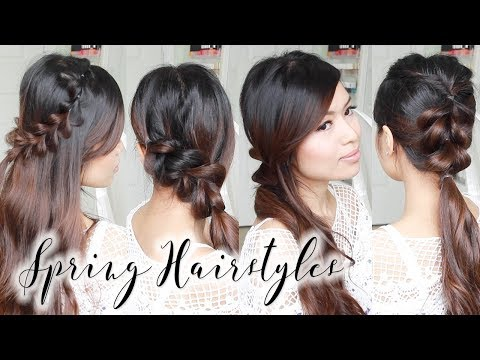 Cute & Easy Spring Hairstyles ♥ Braided Hair Tutorial for Long to Medium Hair