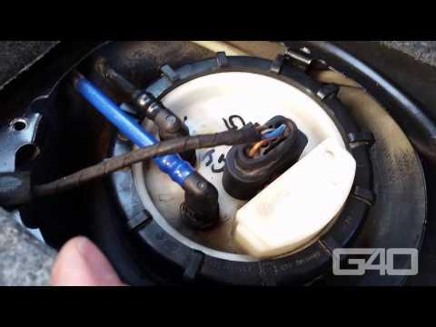 ?? Benzinpumpe am VW Golf 4 wechseln - Kraftstoffpumpe wechseln
