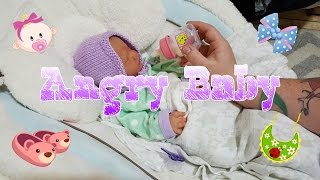 1 AM Feeding! Newborn Baby Wakes Up Crying! Full Body Silicone Baby! Baby Drinks Milk Bottle!