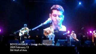 Boyce Avenue - Chasing Cars (snippet) - Live in the Philippines