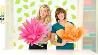 How to Make Giant Paper Flowers width=