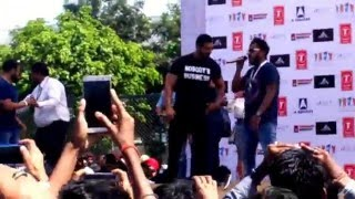 John Abraham (Rocky Handsome) at Chandigarh University.